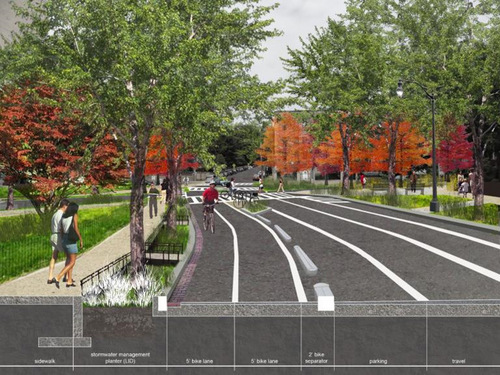 Rendering of the proposed extension. Image from DDOT.