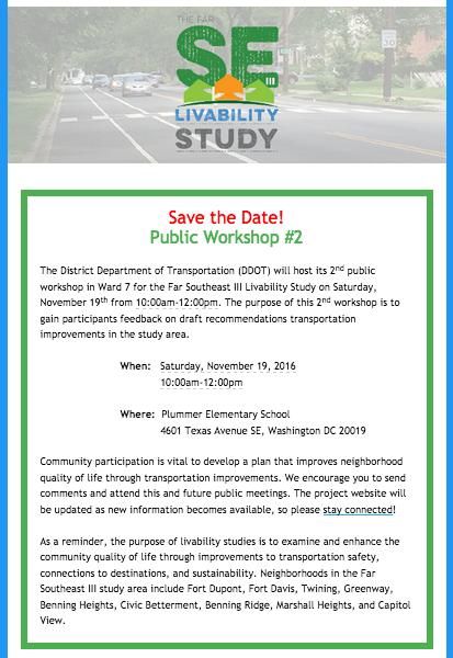 Ward 7 Livability Study